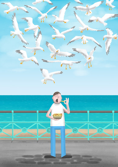 Fish & Chips *Limited Edition* A2 Print