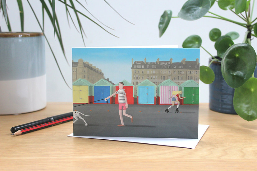 Beach Huts, Hove greetings card