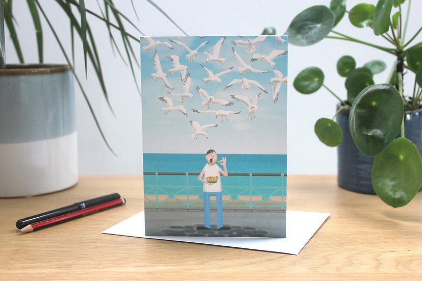Fish & Chips, Brighton greetings card