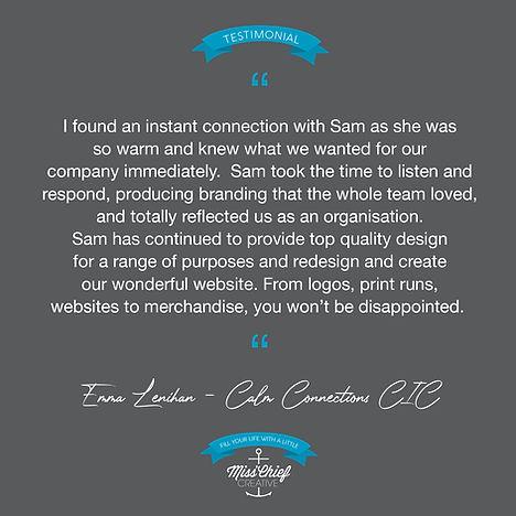 Miss'Chief Creative Testimonial Calm Con