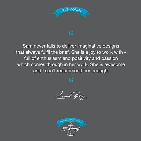 Miss'Chief Creative Testimonial Laurie P