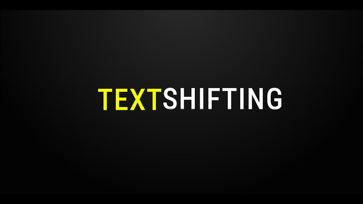 Text Shift - After effects Template
