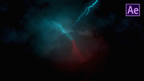 Realistic Lightning Cloud Animation in After effects | After Effects Tutorial - No Plugins