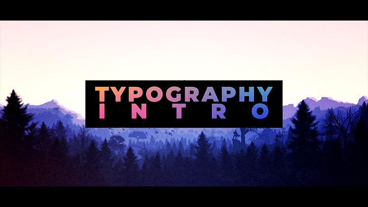 Stomp Typography Intro - After effects Template