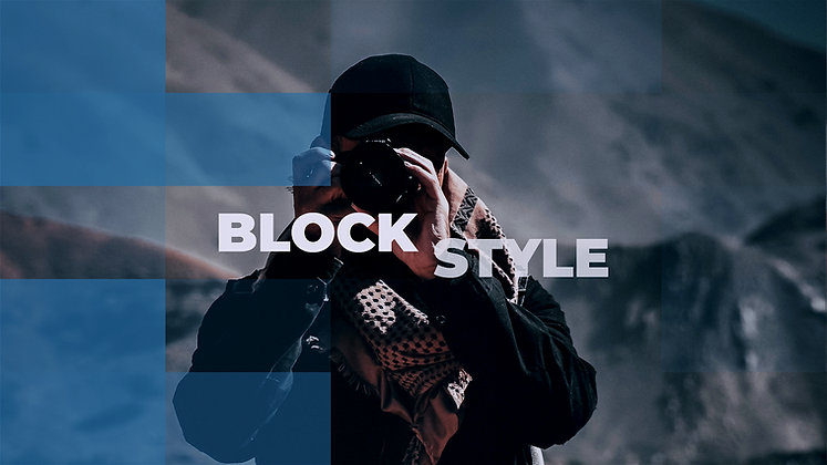 Block Style Slideshow - After Effects Template