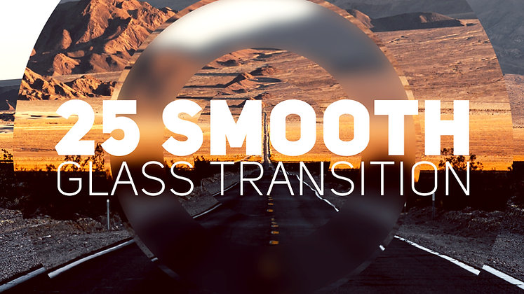 25 Glass Transitions - After effects Template