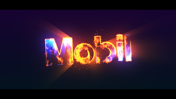 Glossy Fire Logo Reveal - After Effects Template