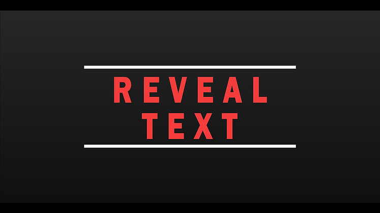 Text Reveal - After effects Template