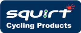 Squirt Cycling Products - White on Blue