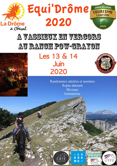 "Inscription ""Cavalier"" au week-end Equi'Drôme"