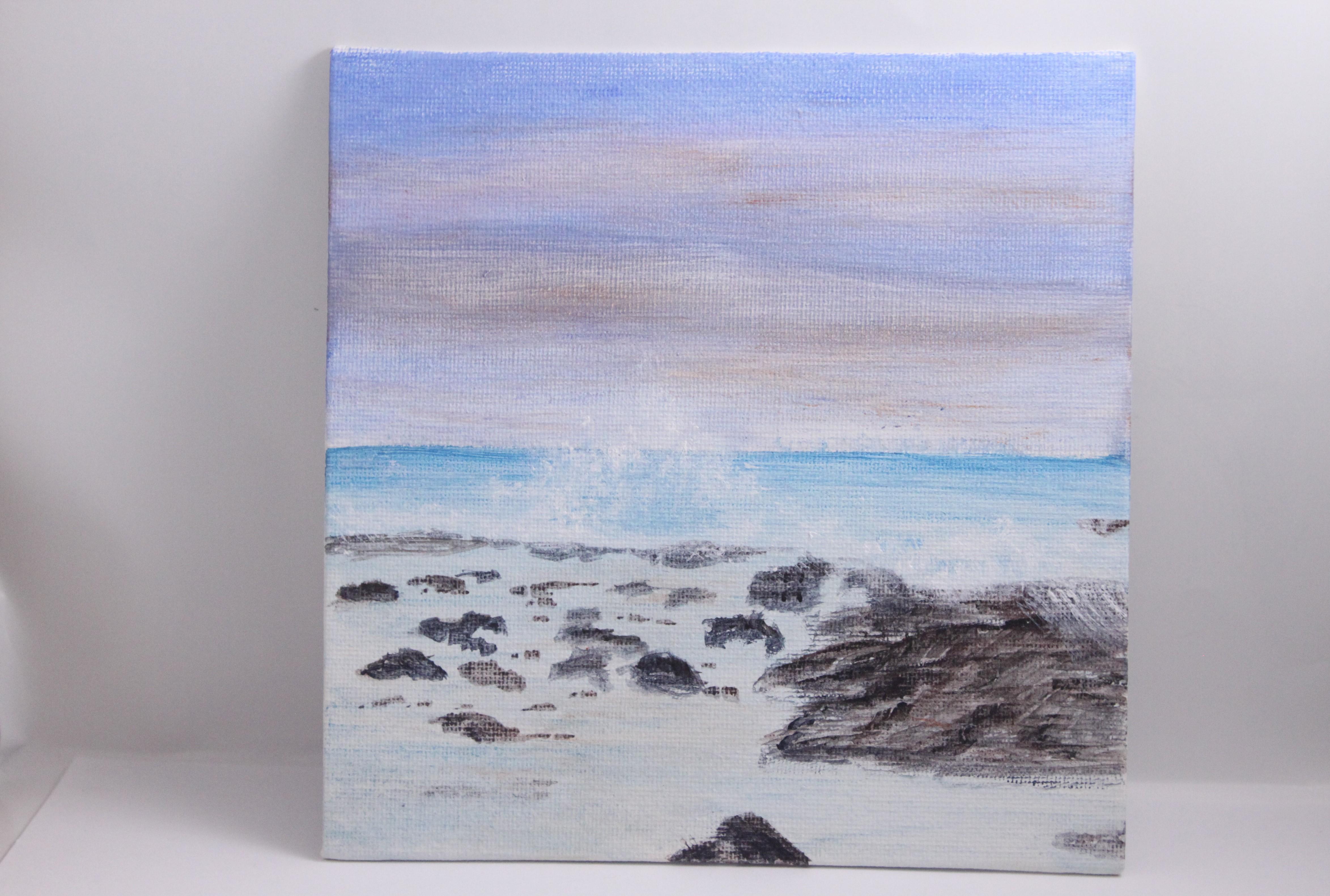 Waves and Tidepools - mini painting
