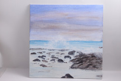 Waves and Tidepools - mini painting