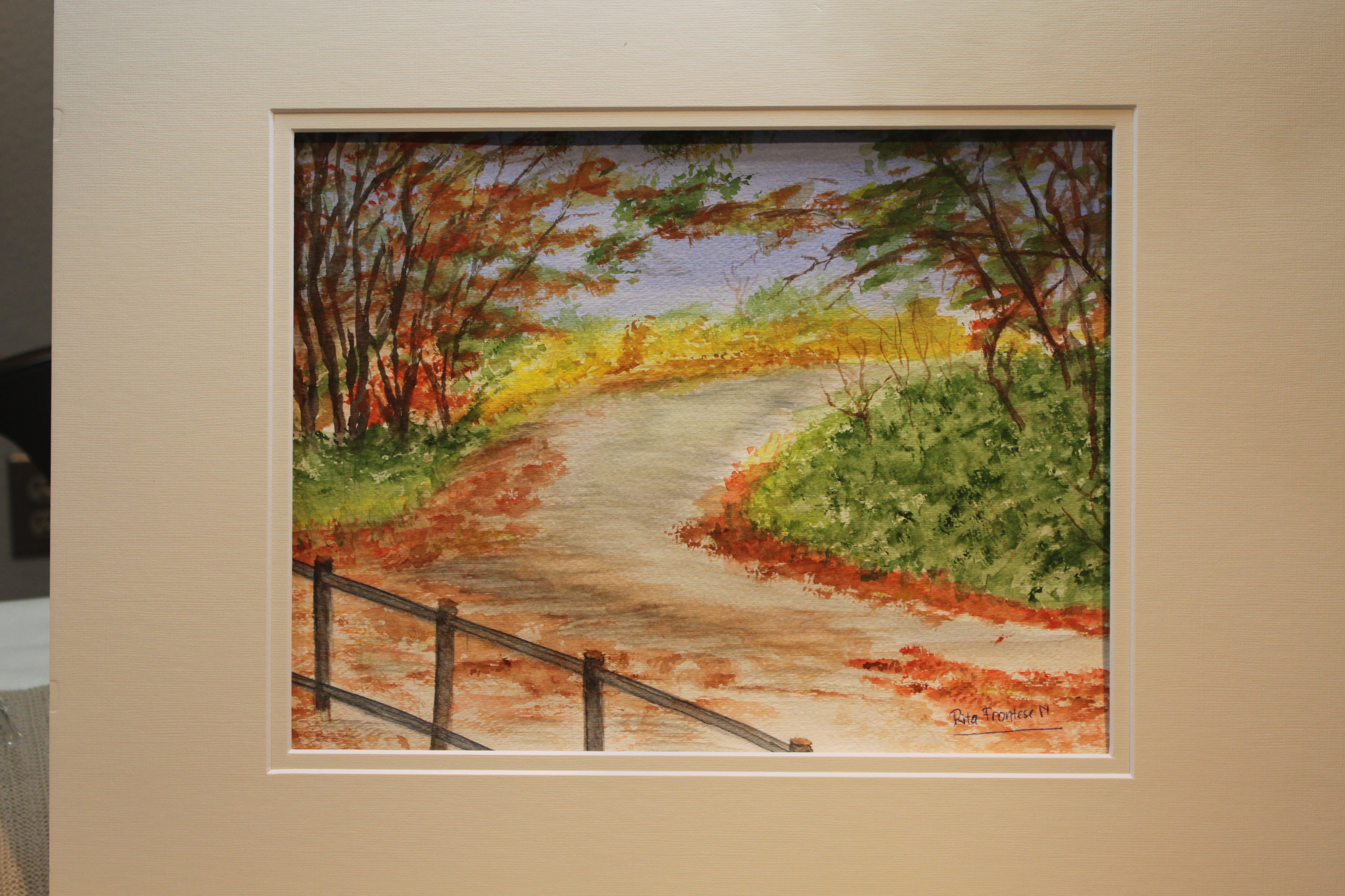 Fall Foliage Path - Watercolor