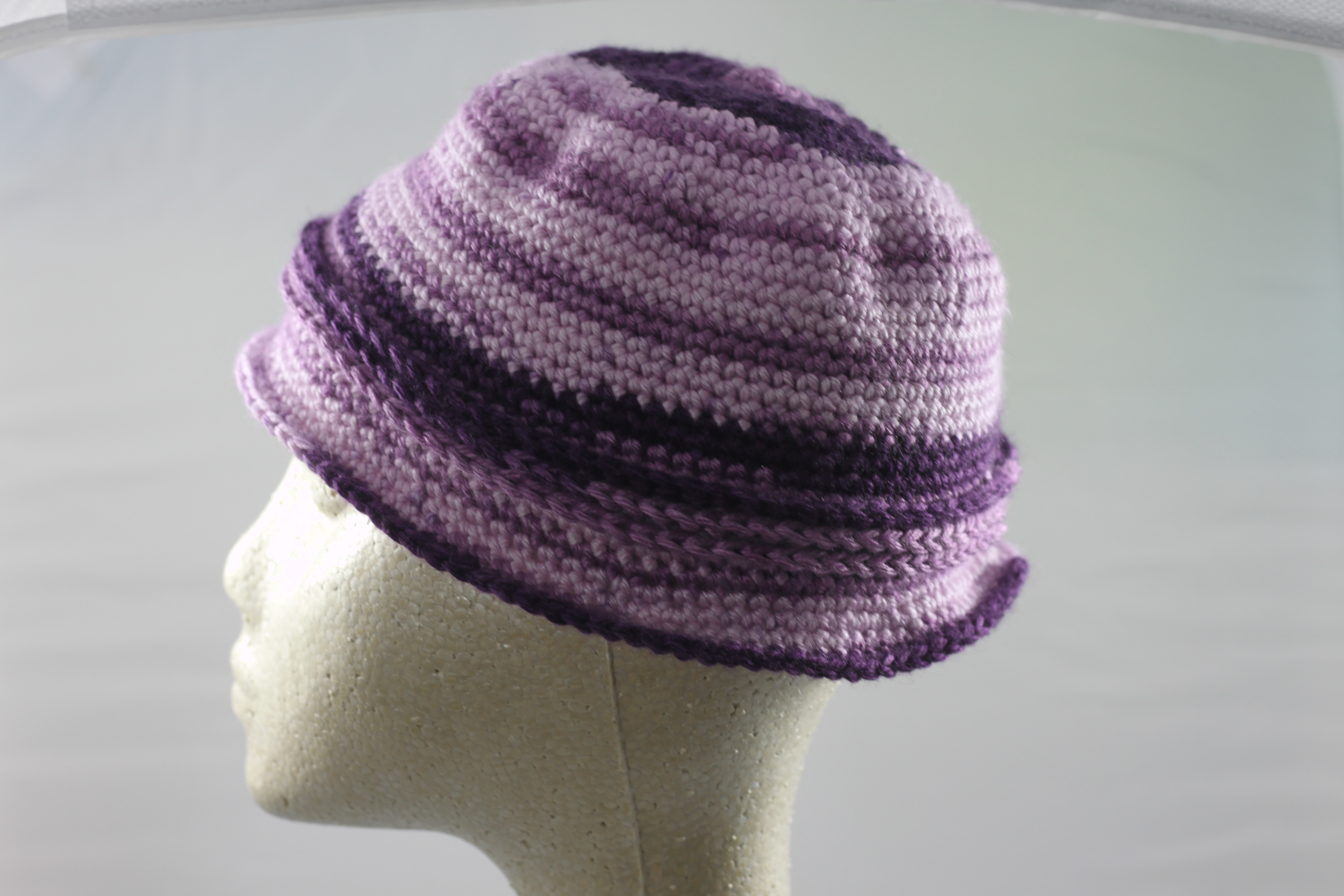 Cloche Hat With Bow - Lavender