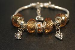 Double charm bracelet - Champagne