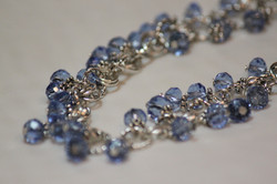 Necklace blue rondelle beads