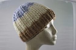 Ridged Crochet Hat - Cappuccino