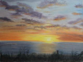 Ocean Shores, WA (1) - Sunset and Log