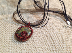 Wire wrapped gemstone pendant