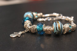 Angel charm bracelet - Blue
