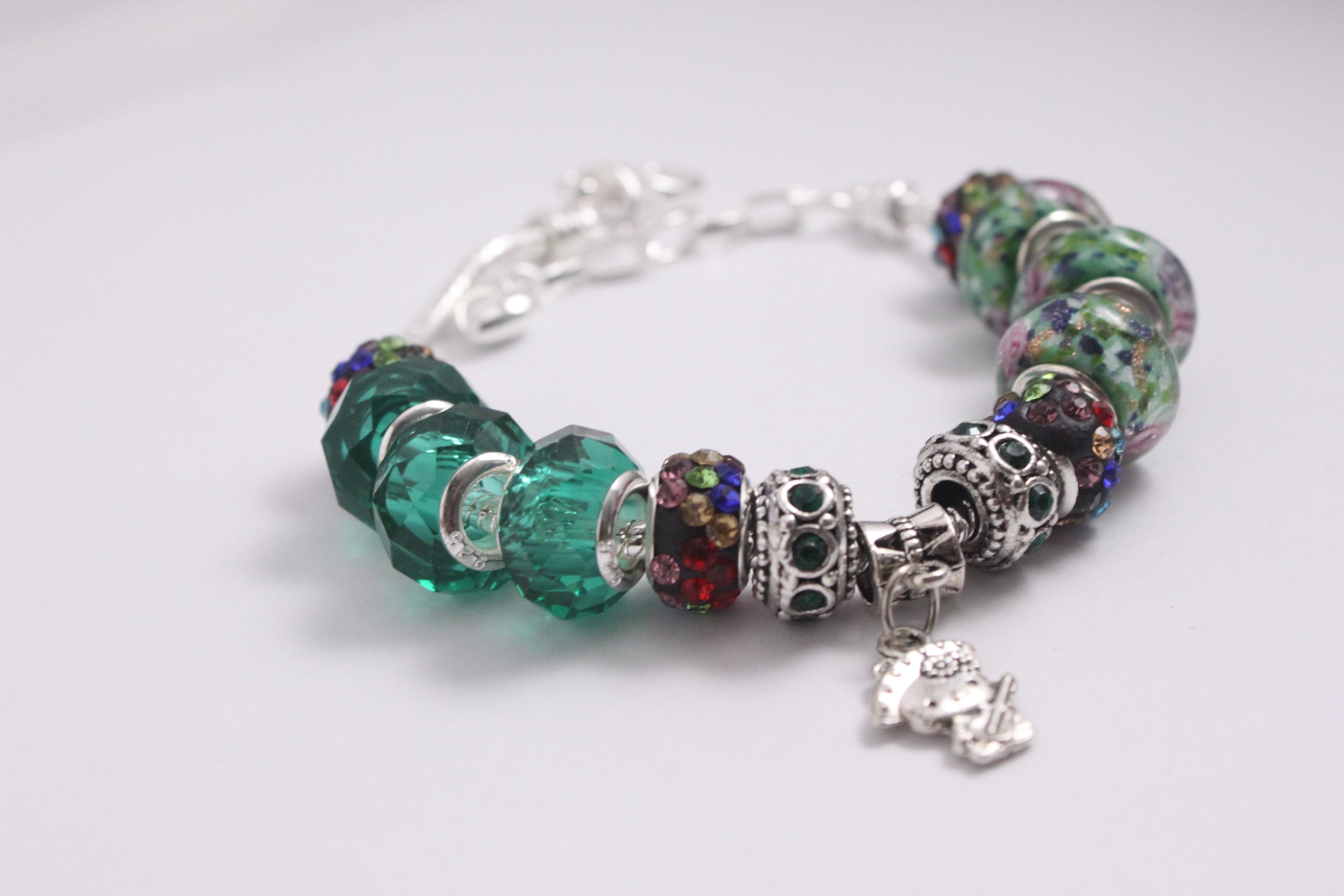 Deep green-Multi color crystal