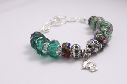 Deep green-Multi color crystal