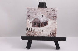 Cabin in the snow - magnet