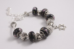 Star charm bracelet - various black