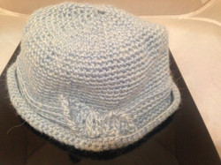 Cloche Hat With Bow - Gray