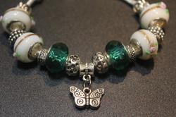 Butterfly charm bracelet - Green