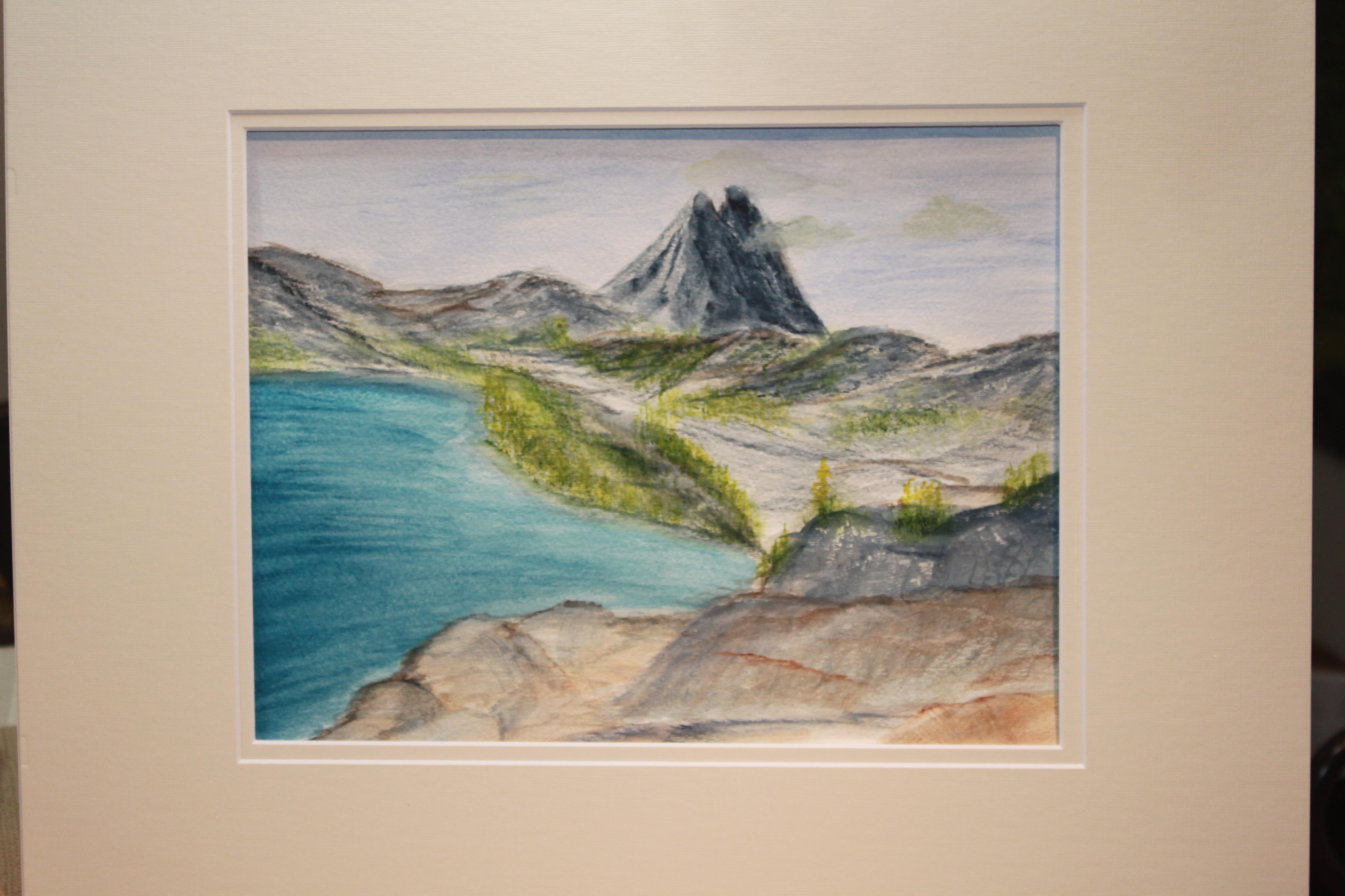 Fall mountain and lake