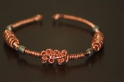 Bracelet coiled copper wire