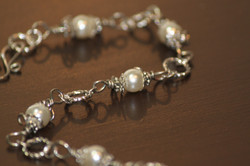 Bracelet pearl glass bead links