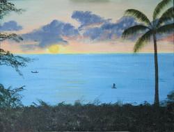 Sunset in Kahana Beach