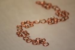 Bracelet copper circle links