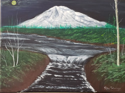 PTA-21-06 River with waterfall (12x16 in