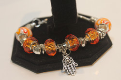 Hamsa charm bracelet - orange