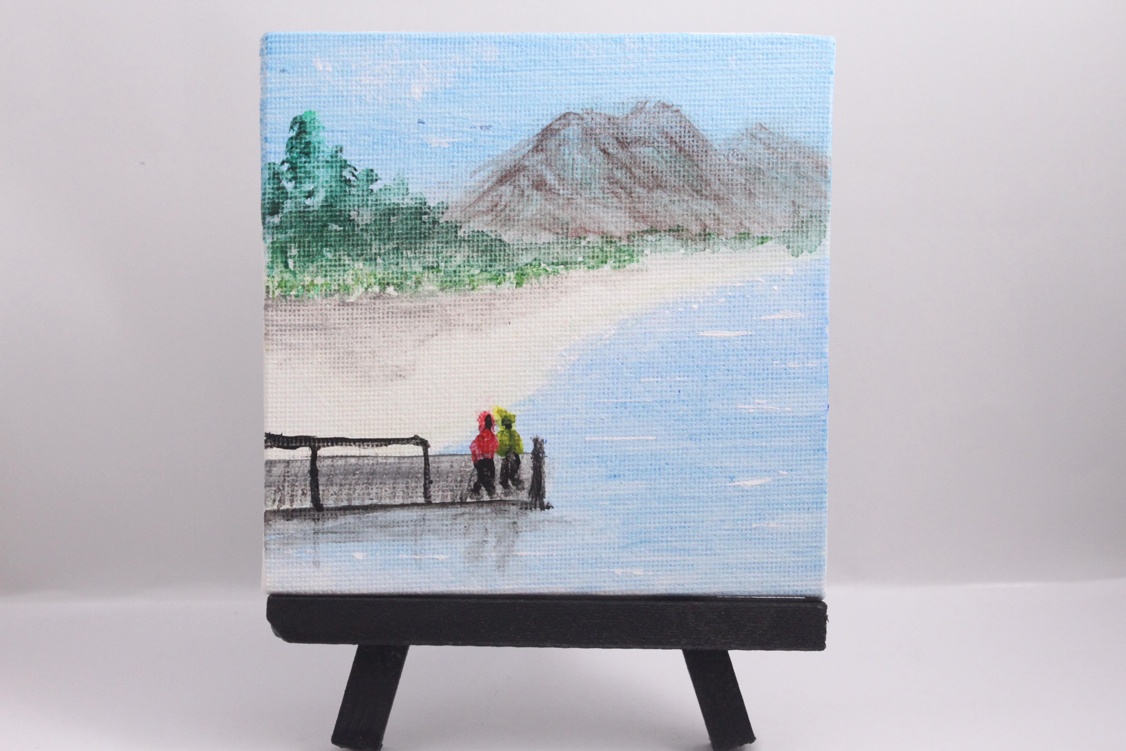 On the dock - mini painting