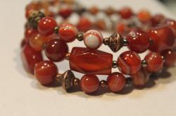 JWB-1508-003 Red agate beads bracelet on