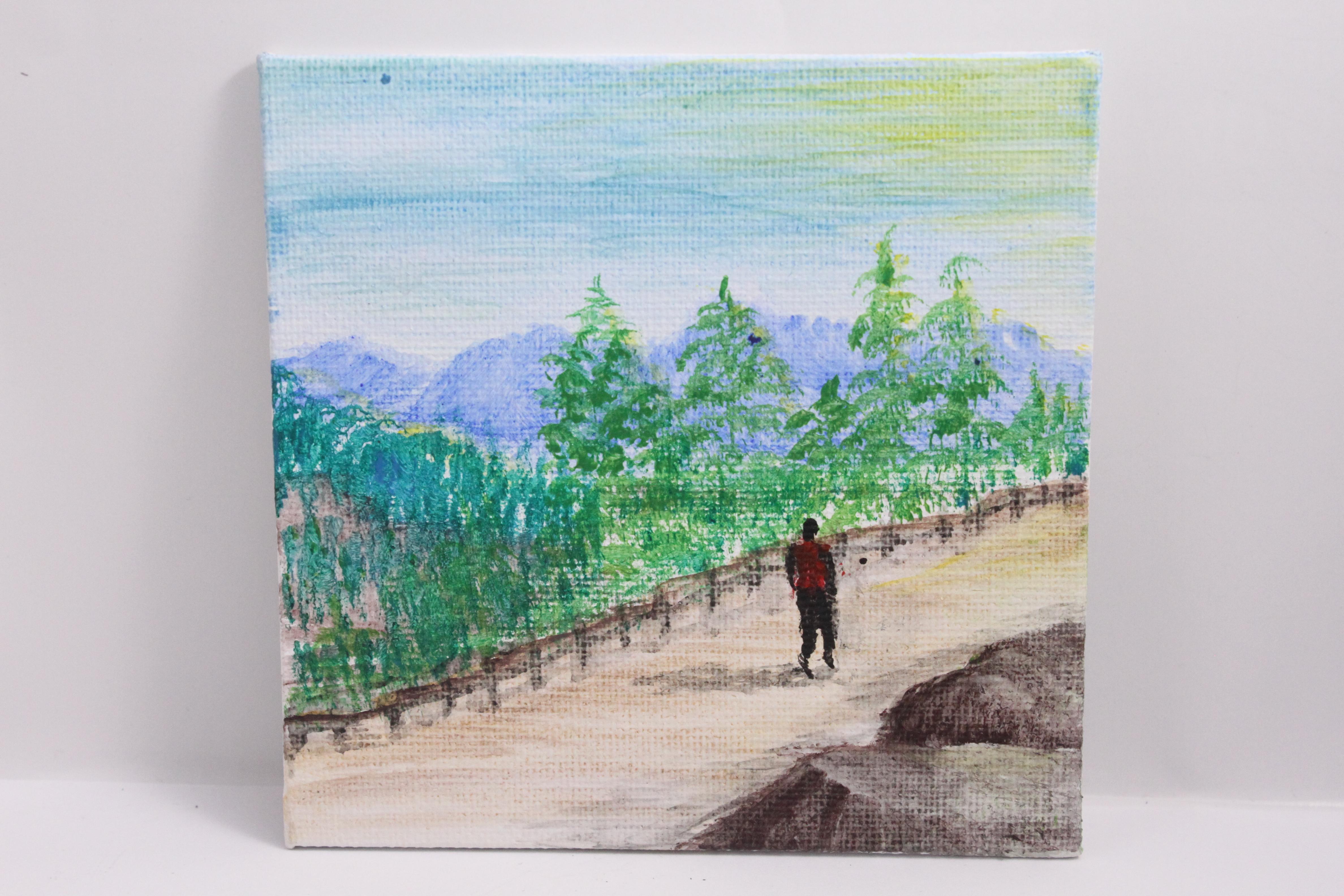 Lone walk - mini painting