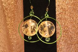 Hoop Earrings Yellow Resin