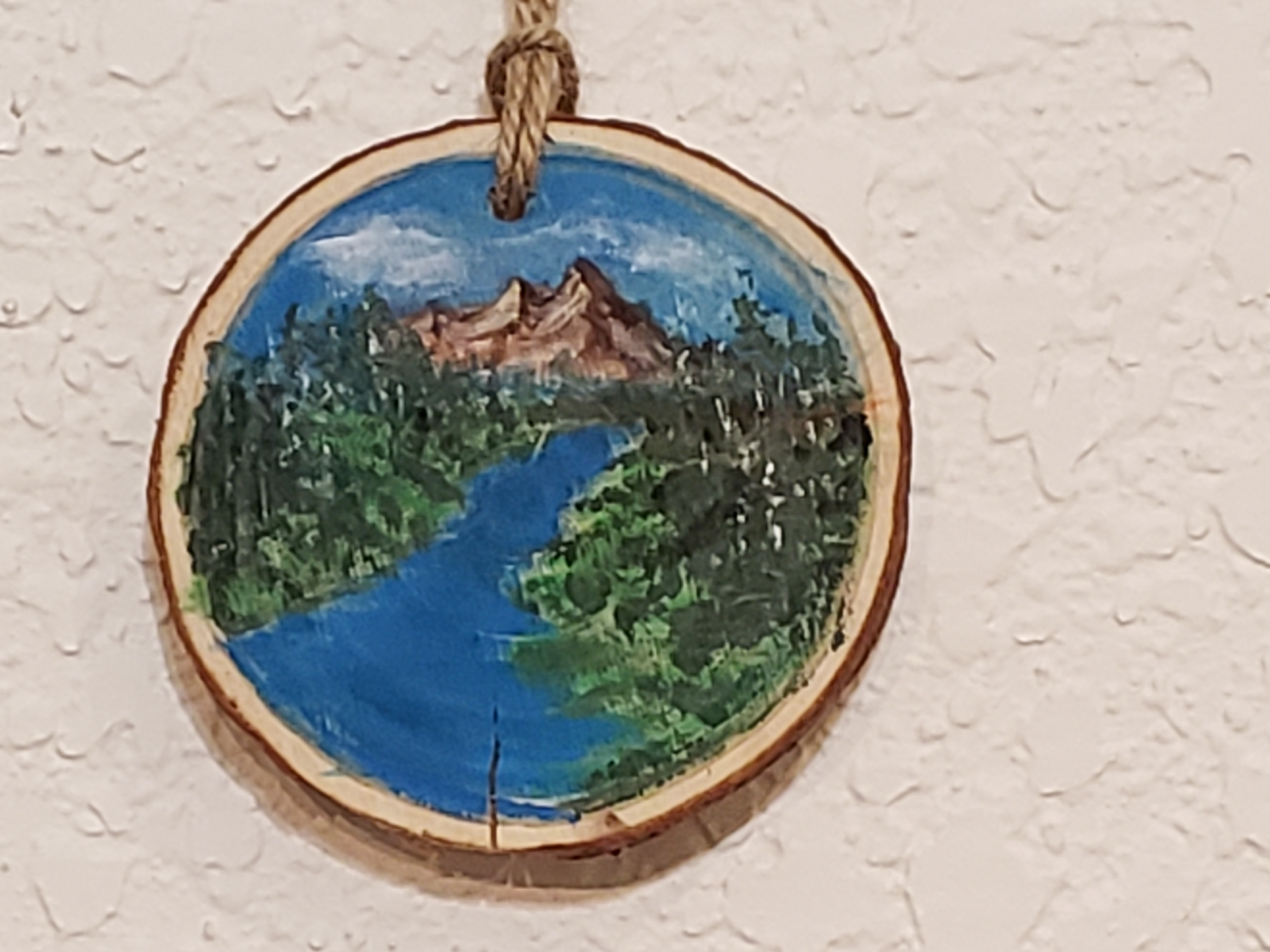 WSP-20-003 Acrylic - Blue river-mountain