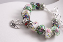 Bird charm bracelet - multi color