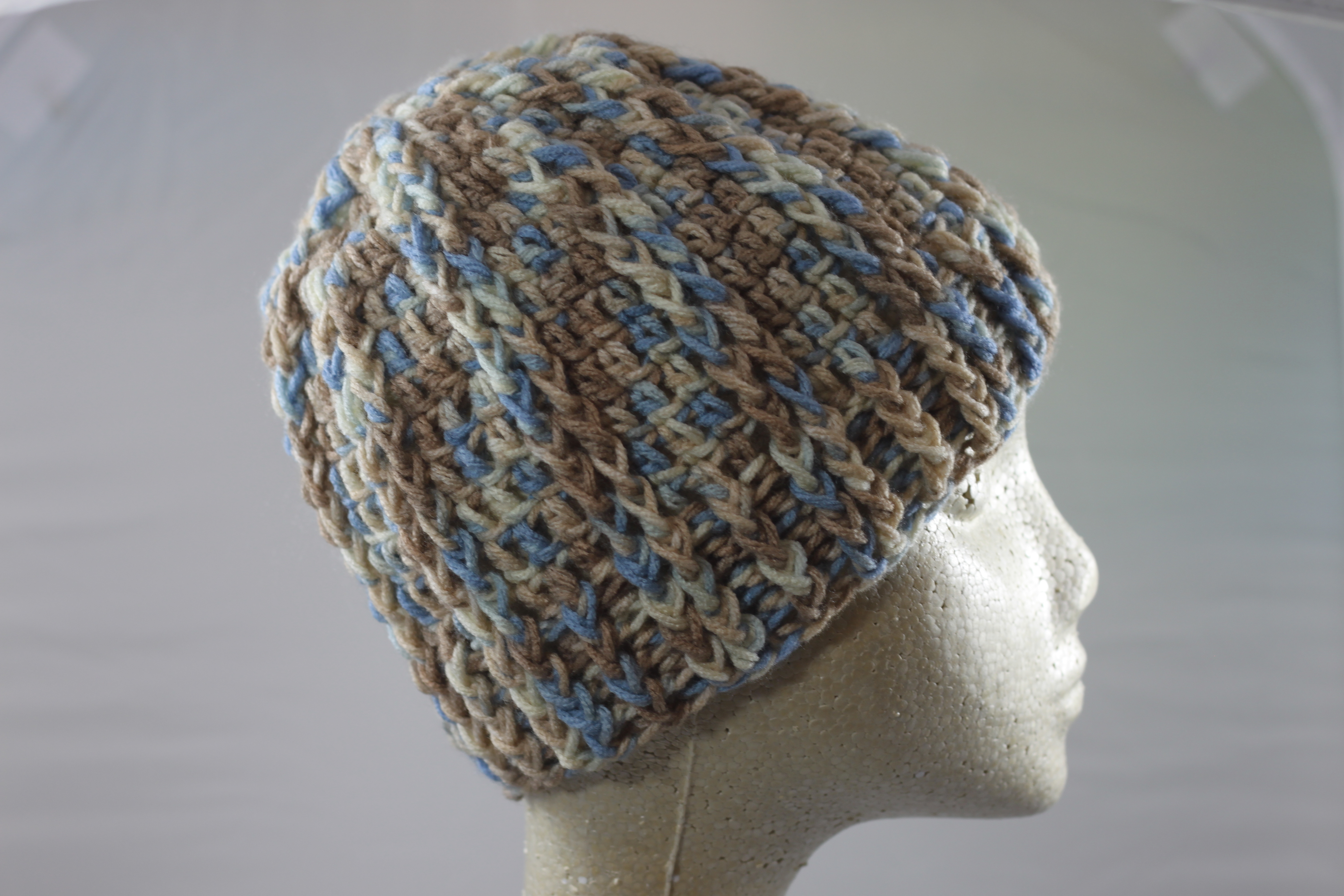 Ridged Crochet Hat - Mirage
