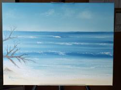 Hapuna Beach inspired painting