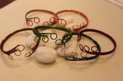 Simple woven cuff wire bracelet