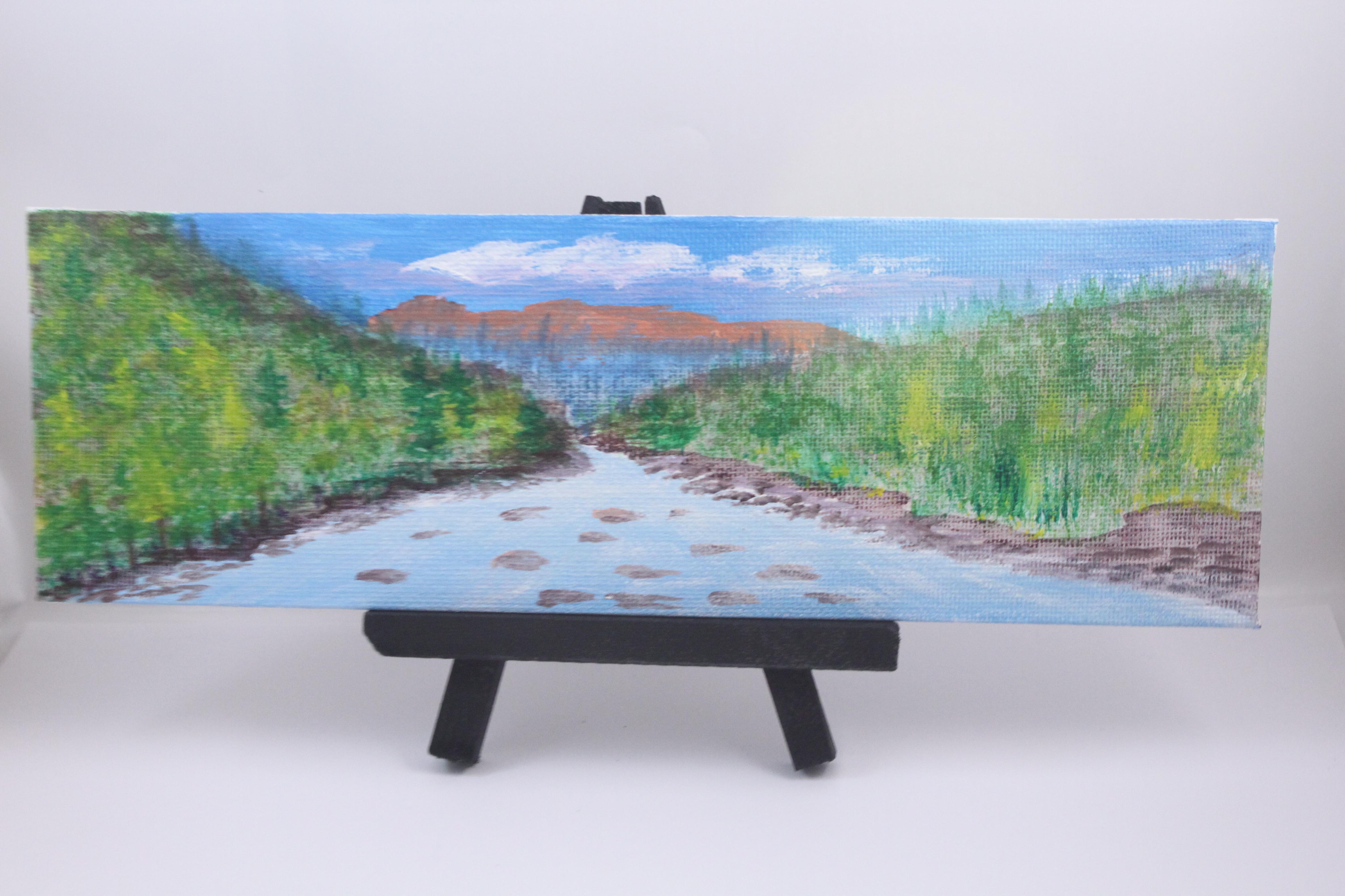 Mountain River - mini painting