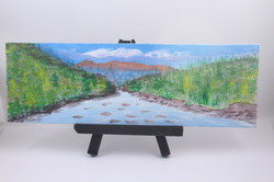 Mountain River - mini painting
