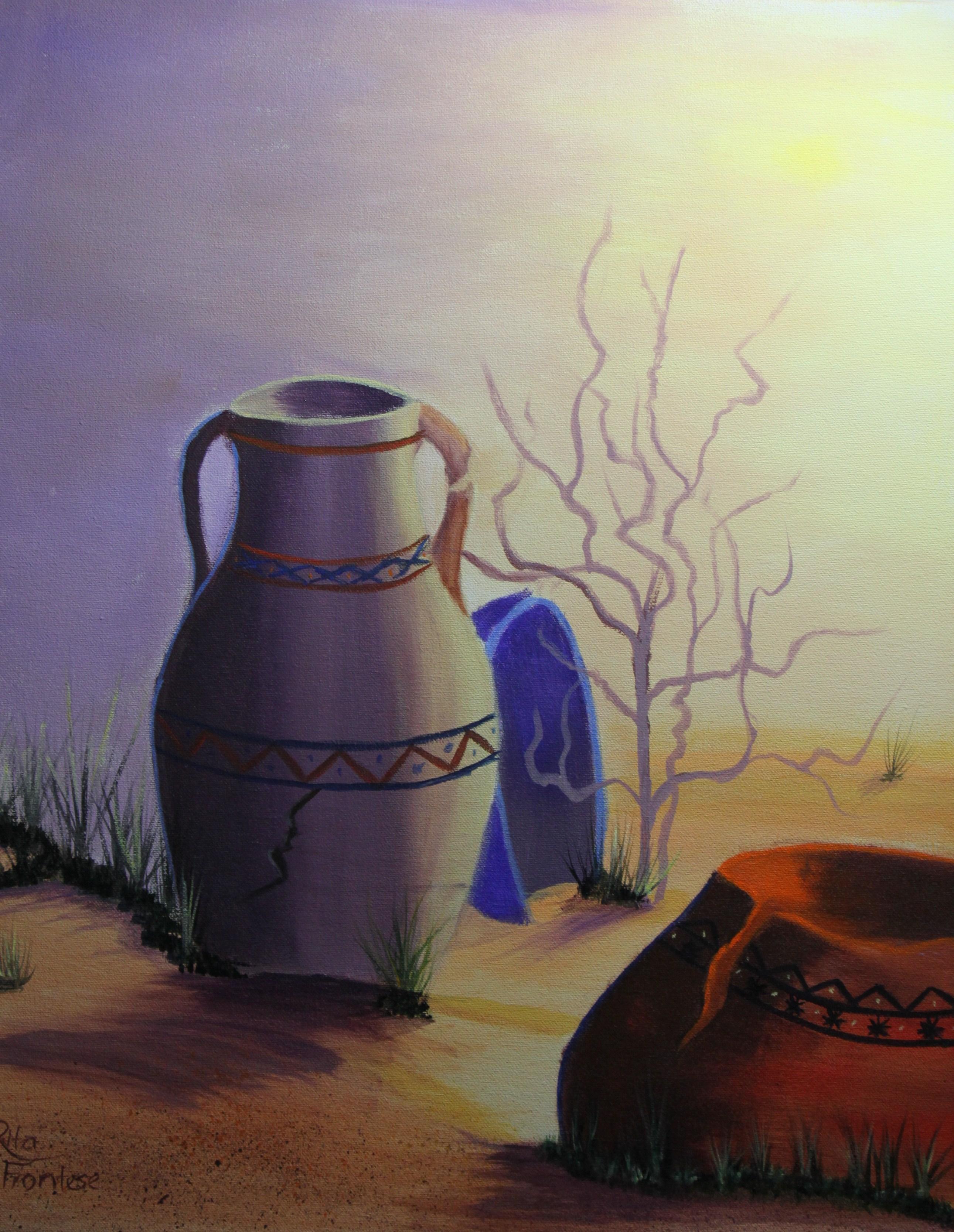 Native American Pots (16x20 in)