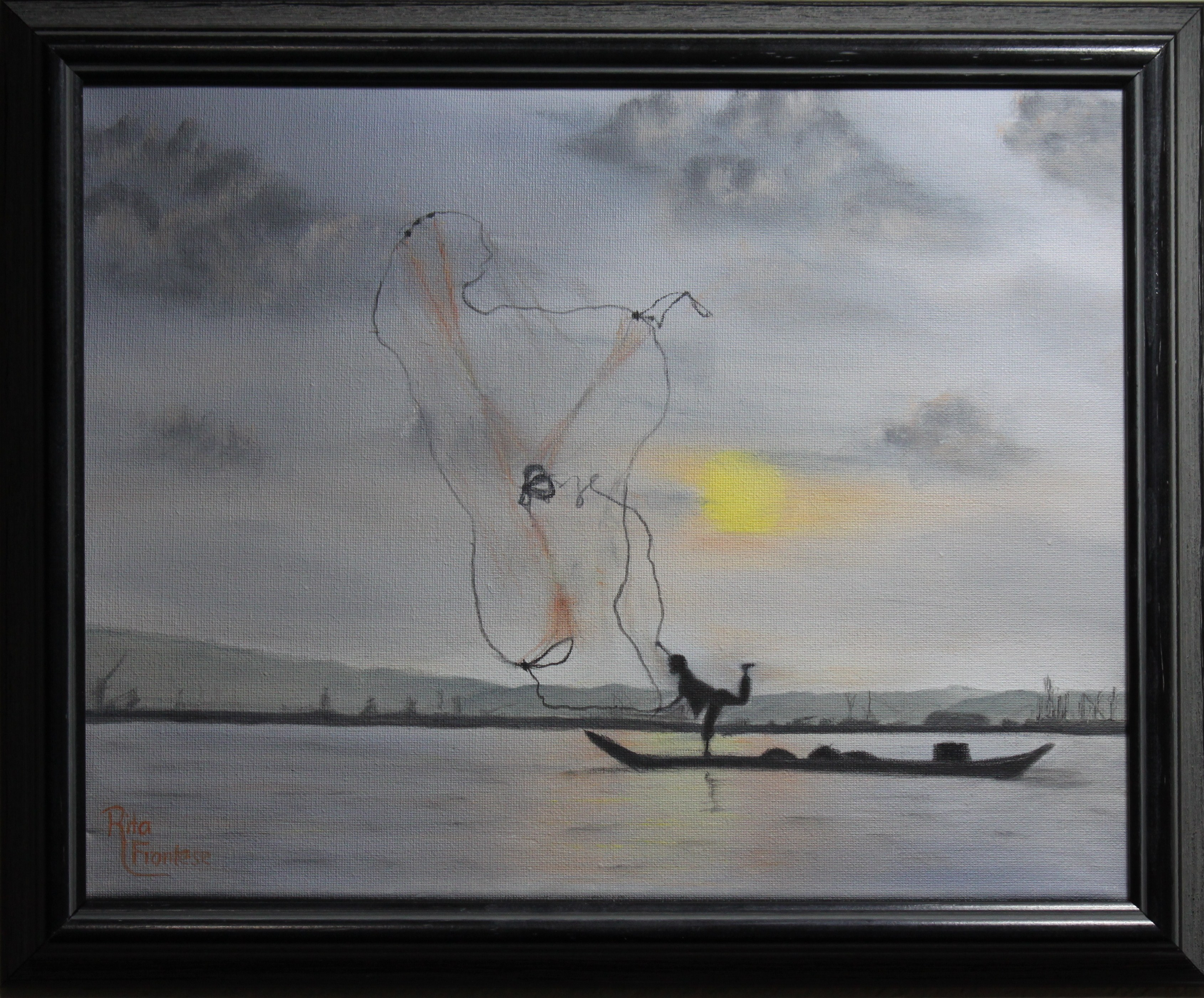 Traditional Fisherman (framed)